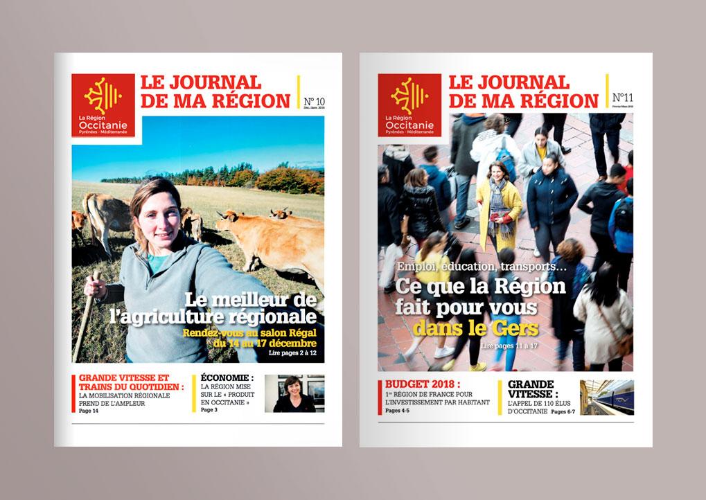 Couverture Journal Occitanie Pyrénées-Méditérranée © Leszines